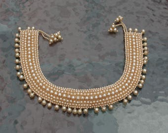 Pearl Necklace Collar 1950s