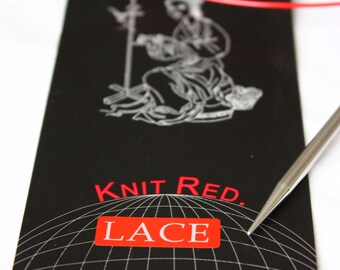 "32"" (80 cm) ChiaoGoo RED Lace Circular Knitting Needles 32"" (80 cm)"