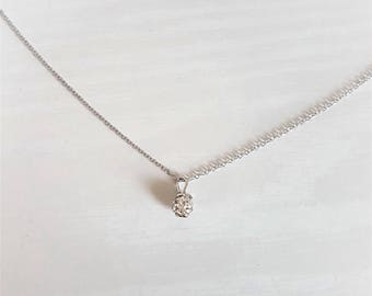 Sparkling Choker Necklace in 16k Silver