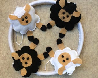 Baby mobile sheep, Sheep mobile, Mobile sheep, Sheep baby Mobile,