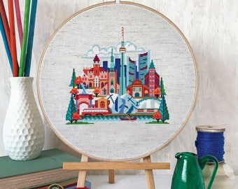 Pretty Little Toronto - printed version - Satsuma Street Modern Cross Stitch Pattern