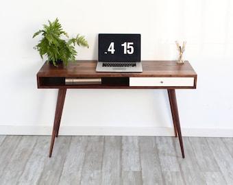 Mid Century Modern Sofa Table Console Table Laptop Desk