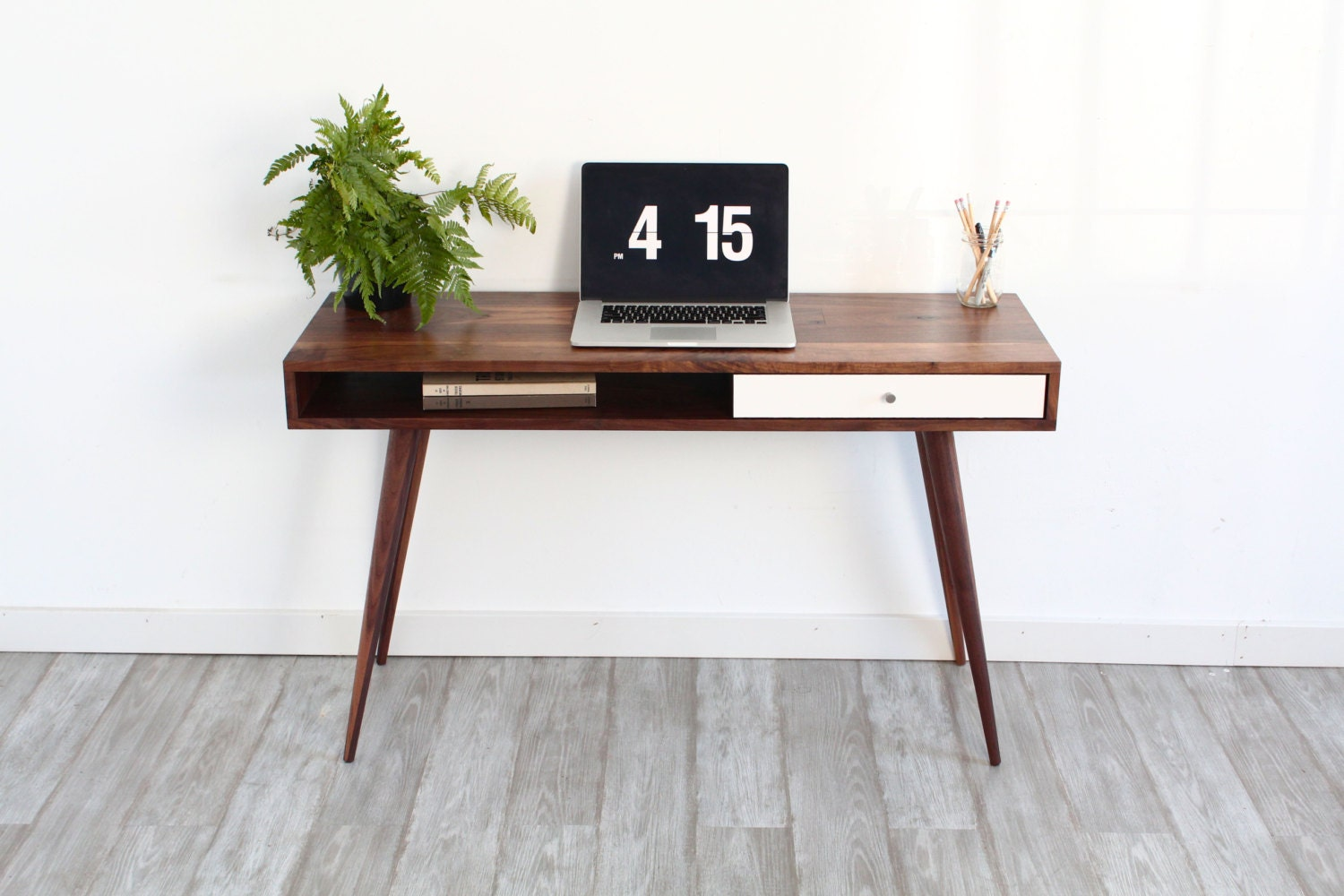 Mid Century Modern Sofa Table Console Table Laptop Desk