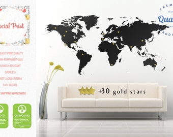 World map wall decal etsy gumiabroncs Choice Image