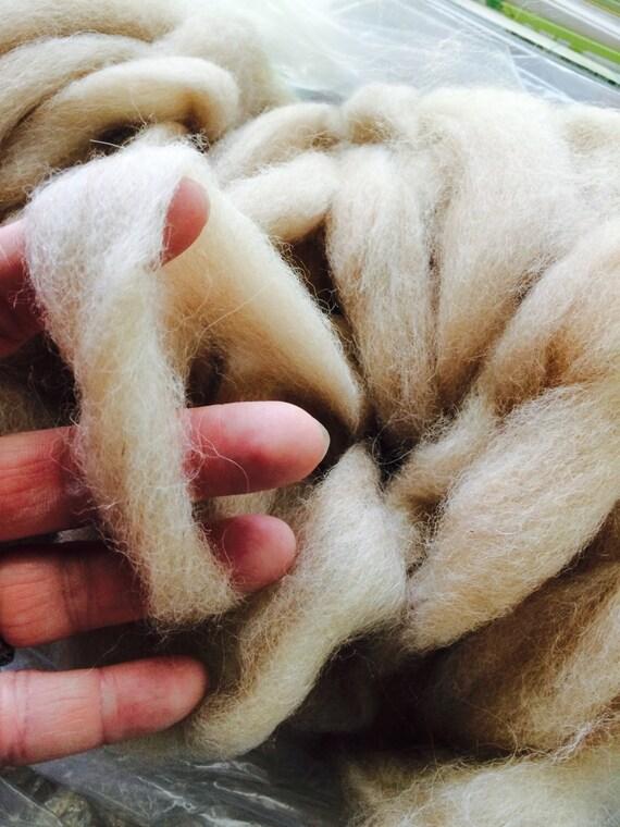 1/4 pound Alpaca Fleece Roving - crochet - yarn - felt - spinning - weave