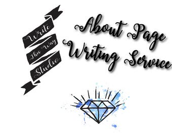 About Me/About Us/Bio Page Writing Service - About Me Page - About Us Page - Bio Page - Writing Services - Write This Way Studio - Writing