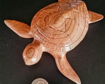 Carved, wood, Sea Turtle, turtle art, sculpture,