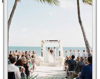 Palm Leaf Tropical Destination Wedding SnapChat Filter - Mr.&Mrs. GeoFilter