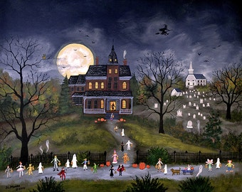 Trick or Treat - Halloween Limited Edition Print _ by J.L. Munro