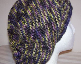Merino Wool Slouch Hat - Slouchy Knit Beanie - Knitted Dreadlock Tam - Hand Knit Hat