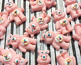 Pink kawaii bear cabochon