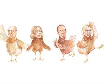 Arrested Development Chicken Dance Print 8 x 10