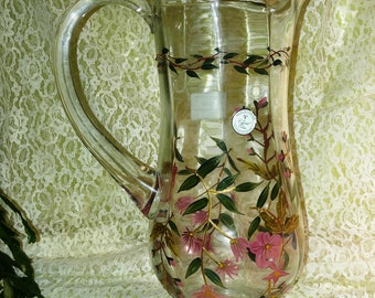 Crystal Romanian Water Pitcher