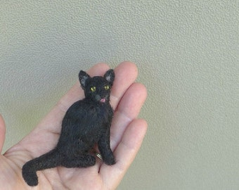 Pet Gift  Your cat as a cute Pin / Custom made for You