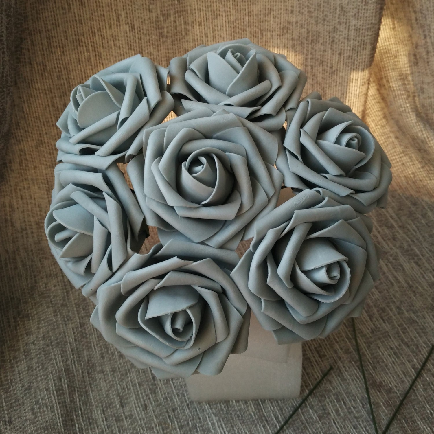 Gray Flowers Fake Rose Wholesale 100 Silver Artificial Grey For Wedding Table Centerpiece Bridal Bouquet LNPE034 From