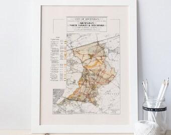 Map of birmingham Etsy