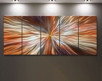 Metal Large Oryginal Modern Metal Wall Art  Handmade Contemporary Abstract Wall Painting  ready to hang