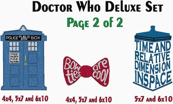 Sale Doctor Who Embroidery Sale Deluxe Embroidery Design Collection