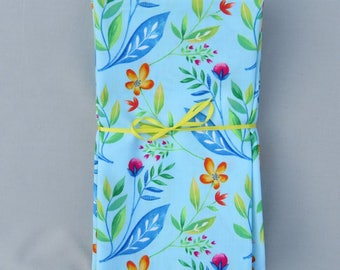 Whimsical Floral Set of 6 100% Cotton Napkins