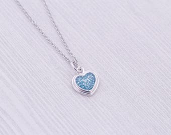 Cremation Necklace - Stainless Steel Heart Pendant - Cremation Jewelry - Ash Necklace - Ash Jewelry - Urn Jewelry - Pet Loss