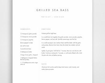 recipe book template printable recipe binder family cookbook