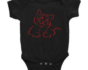 goth baby clothes - Smiling Cat