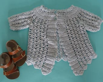 vintage hand knitted toddler sweater 18-24 months