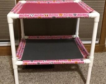 Fleece Cat Hammock, stacked pet beds, pet hammock, PVC pet bed, cat bunk bed