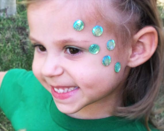 Sirène Cosplay maquillage visage Bindi adulte enfant filles enfants femmes  sirène Halloween Costume accessoire Musique Festival vêtements écailles