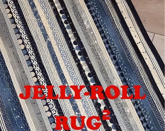 PATTERN:   Jelly Roll RUG 2 - RJD120 - Jelly Roll Friendly - Rug - Rectangle - Easy - Roma Lambson - Area Rug