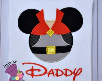 Disney -Prince Philip-Princess -Sleeping Beauty -Inspired-Shirt-Mouse- Ears - Aurora-Applique - Head-  Custom- Embroidered -Character