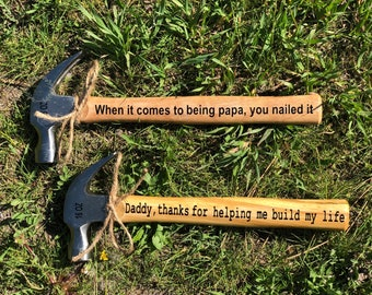 Hammer| Father's Day present| personalized dad gift| custom hammer| guy gift| grandpa gift| tools| custom tool| fathers fay gift