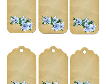 Flower Gift Tag 1B-clipart-Background-Jewelry-Clipart-Art Clip-Gift Tag-Holiday-Digital Clipart-Website-Banner-Notebook-Scrapbook.