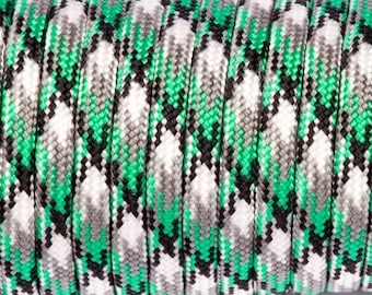 5 meters of Paracord green camouflage