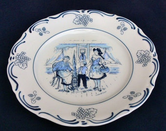 Vintage Winterling Plate Decorated by LES Porcelaine with Engel Decor circa 1950
