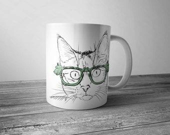 Cat Coffee mug, cute mug, funny cat mug