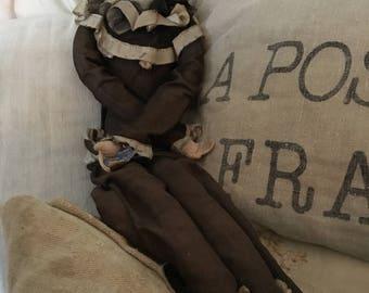 Stunning Pierrot doll antique colombine,pierrette, charmant, ca 1900,rare,boudoirdoll