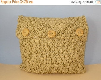 HALF PRICE SALE Instant Digital File pdf download knitting pattern - Superfast Chunky Double Moss Stitch Cushion Cover