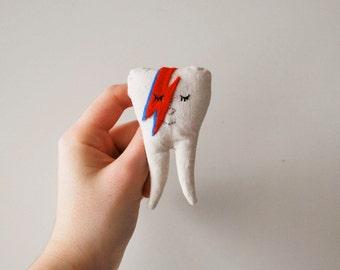 Handmade David Bowie Tooth Brooch