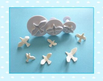 """Ejector cutter: """"Dove"""" - set of 3 different sizes."""