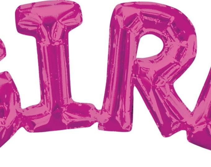 It's a Girl Balloon, It's a Girl Banner,  Girl Pink Balloon, Girl  Balloon Banner, Baby Shower Balloons, Gender Reveal Balloons