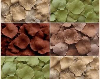 500 Silk Rose Petals - Camo Blend Rose Petals