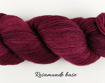 Sarah's Morning - burgundy semisolid hand dyed yarn - fingering sock DK - 100 grams - ready to ship