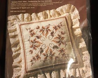 Paragon candlewick plus pillow cross stitch