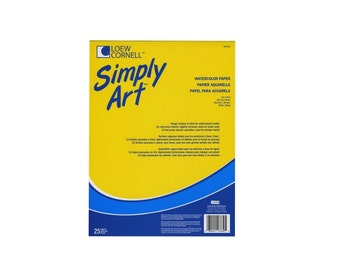 Simply Art Watercolor Pads 25 Sheets, Ideal Surface Paper For Artists And Crafters, Art Student Watercolor Paper For Watercolor Painting