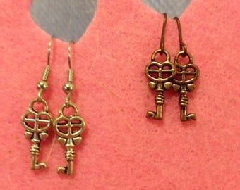 Mini Key Earrings