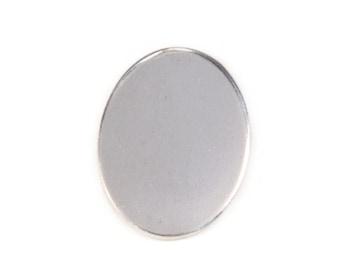 Ten  22 x 30 mm Aluminum Oval Stamping Blanks, 18 Gauge Stamping Blanks, Tumbled for Hand Stamping