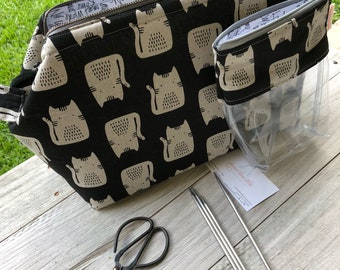 NEW!!!  XLarge Retreat Bag Set, Zippered Bag, Metal Frame Bag with Matching Notion Bag, Carpet Zippered Bag, M