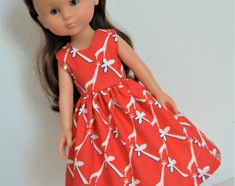 "Handmade Doll Clothes Dress fits 13"" Corolle Les Cheries Dolls Handcraft 12"
