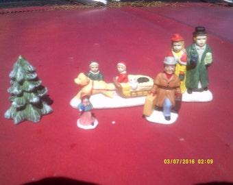 Christmas Village Figures ~ Set of 5